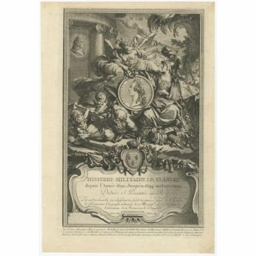 Histoire Militaire de Flandre (..) - Tardieu (1756)
