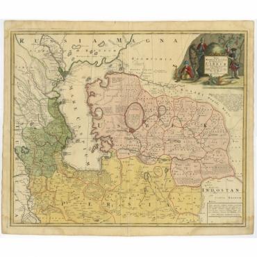 Nova Maris Caspii et Regions Usbeck (..) - Homann Heirs (c.1735)