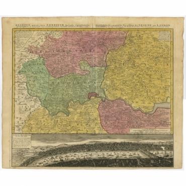 Regionis quae est circa Londinum specialis repraesentatio (..) - Homann Heirs (1741)