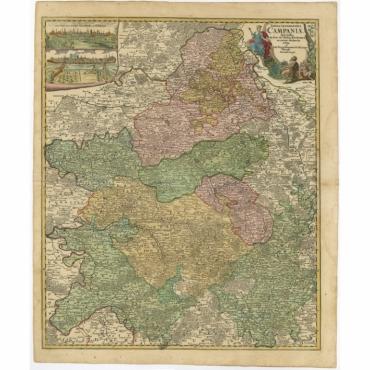 Tabula Geographica Campaniae (..) - Homann Heirs (c.1759)