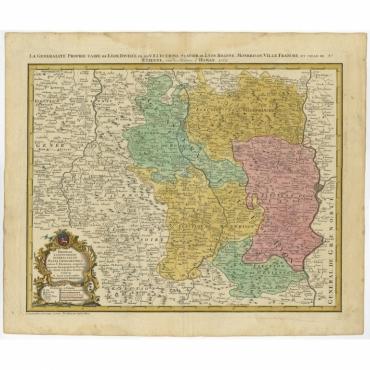 La Generalite Proprie Taire De Lyon (..) - Homann Heirs (1762)