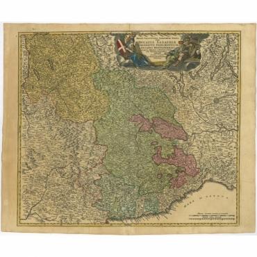 Ducatus Sabaudiae, Principatus Pedemontium et ducatis Montisferrati (..) - Homann (c.1735)