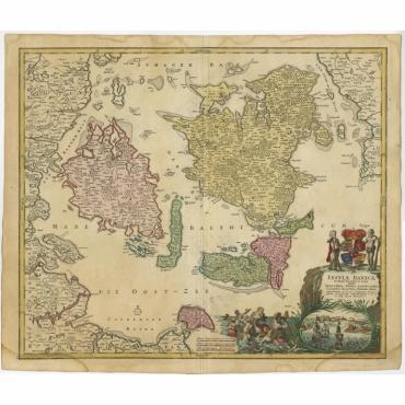 Insula Danicae in Mari Balthico sitae (..) - Homann Heirs (1720)