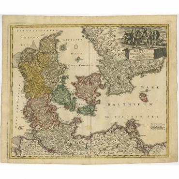 Regni Daniae in quo sunt Ducatus Holsatia (..) - Homann Heirs (c.1730)