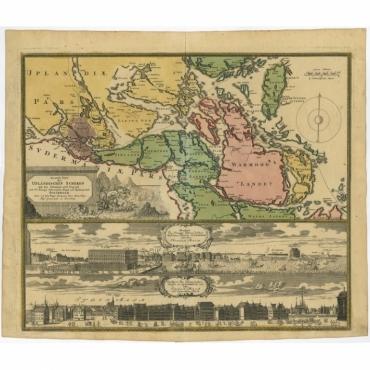 Accurate Carte (..) Haupt und Residentz Stadt Stockholm - Homann Heirs (1720)