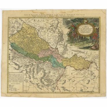 Tabula Geographica exhibens Regnum Sclavoniae (..) - Homann Heirs (c.1745)