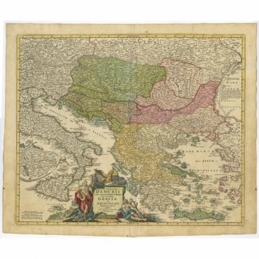 Fluviorum in Europa (..) - Homann Heirs (c.1720)