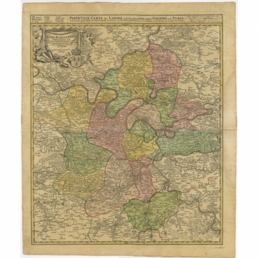 Agri Parisiensis Tabula particularis (..) - Homann Heirs (c.1720)
