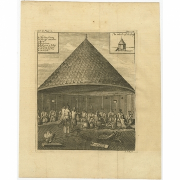 Untitled Print of the Court of the King of Sestro (Liberia, Africa) - Kip (1744)