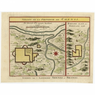 Villes de la Province de Chensi - Van der Schley (1747)