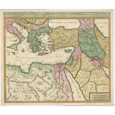 Byzondere Kaart van de Landen (..) - Covens & Mortier (c.1700)