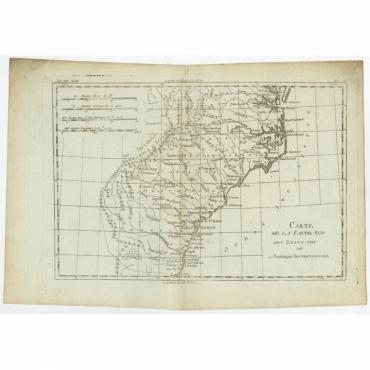 Carte de la Partie Sud des Etats Unis de l'Amerique Septentrionale - Bonne (c.1780)