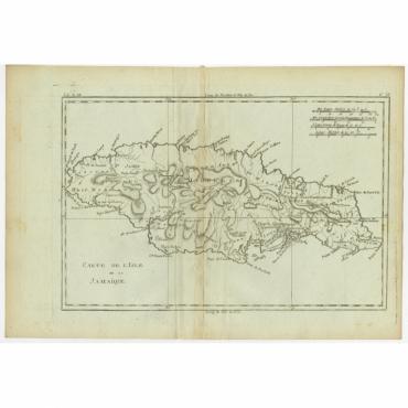 Carte de l'Isle de la Jamaique - Bonne (c.1780)