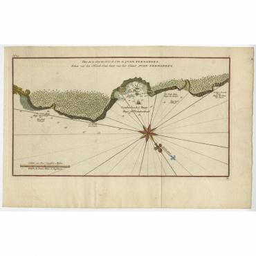 Plan de la N.E. de l'Ile de Jan Fernandes (..) - Anson (c.1750)