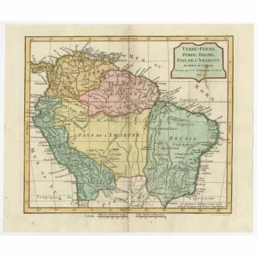 Terre-Ferme, Perou, Bresil, Pays de L'Amazone - Delamarche (1806)