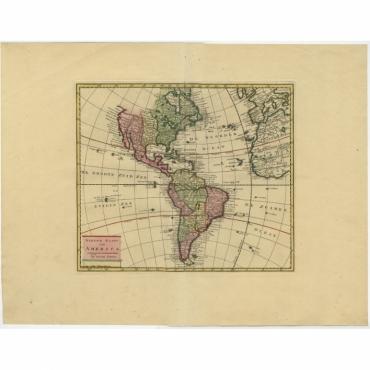 Nieuwe Kaart van America - Tirion (1744)