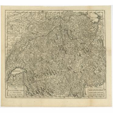 Nieuwe Kaart van Zwitserland - Tirion (c.1760)