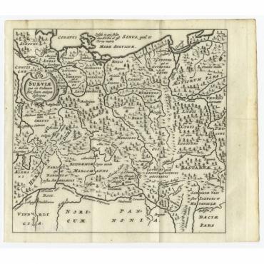 Sueviae quae cis Codanum fuit finum Antiqua defcriptio - Bertius (1685)