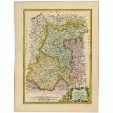 Carte du Gouvernment de L'Isle de France (..) - Bonne (c.1780)