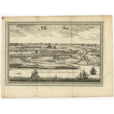 Gezigt op Achin - Van der Schley (1784)