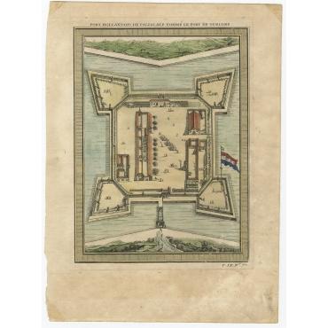 Fort Hollandois de Paliacate nommé le Fort de Gueldre - Bellin (1751)