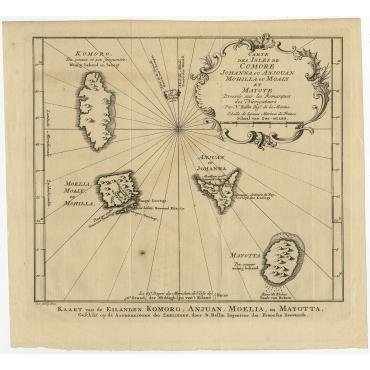 Carte des Isles de Comore (..) Uncoloured  - Bellin (1760)