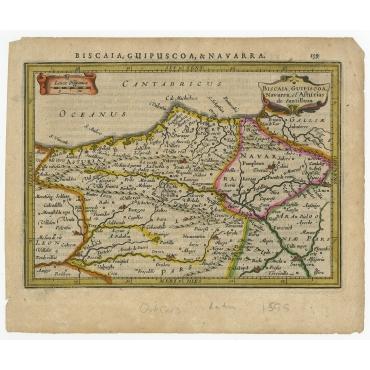 Biscaia, Guipiscoa, Navarra, Et Asturias De Santillana - Janssonius (1628)