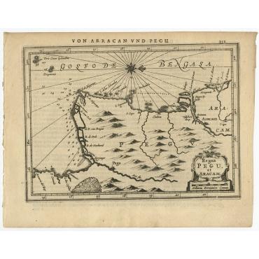 Regna Pegu et Aracam - Janssonius (1651)