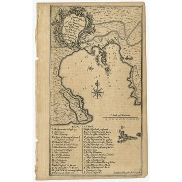 A New & Exact Plan of the Harbour of Port Louis (..) - Vallnight (1748)