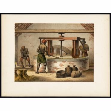 Pl.Ib. p.62 Mill for rice peeling on Java - Perelaer (1888)