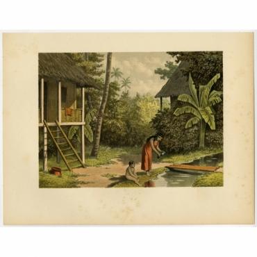 Pl.IIb p.96 House in Oleh-Leh - Perelaer (1888)