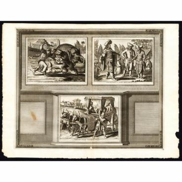 Lieu de combats pour le divertissement du Grand Mogol - Van der Aa (1725)