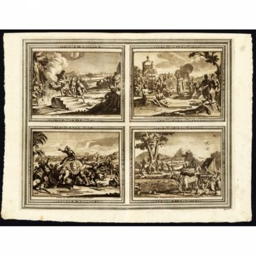 Femmes Benjanoises brulees aupres les corps de leurs Maris (..) - Van der Aa (1725)