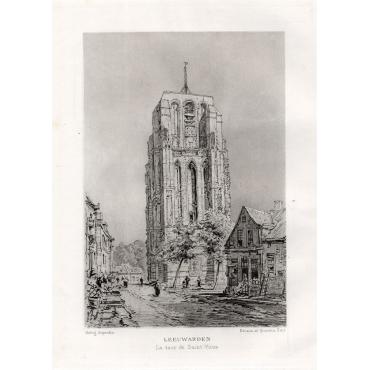 Leeuwarden - La tour de Saint-Vitus - Havard (1882)
