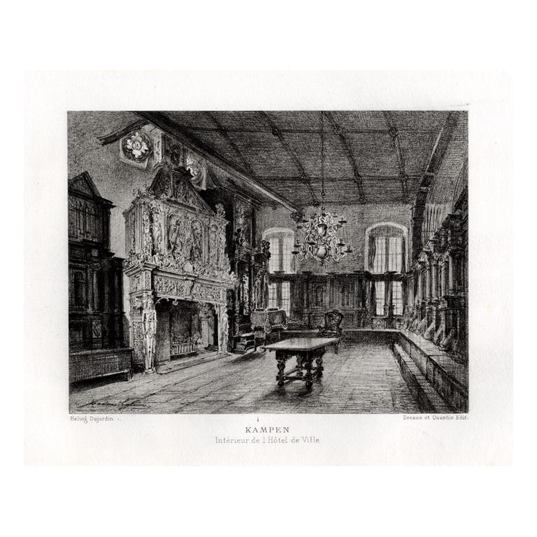 Kampen - Interieur de l' Hotel de Ville - Lalanne (1882)