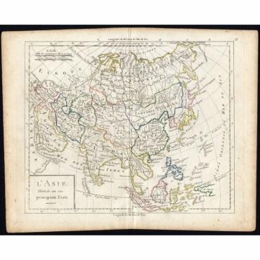 L'Asie divisee en ses principaux Etats - Vaugondy (1785)