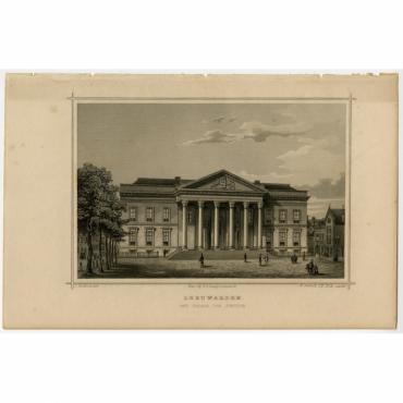 Leeuwarden. Het Paleis van Justitie - Terwen (1863)