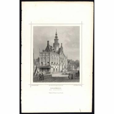 Bolsward. Het Stadthuis - Terwen (1863)