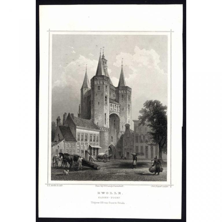 Zwolle. Sassen-Poort - Terwen (1863)