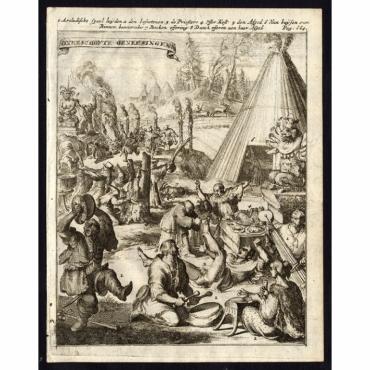 Onbeschofte genesingen - De Hooghe (1682)