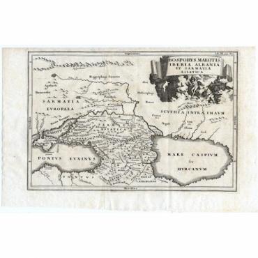 Bosporus, Maeotis, Iberia, Albania, et Sarmatia Asiatica - Cellarius (1731)