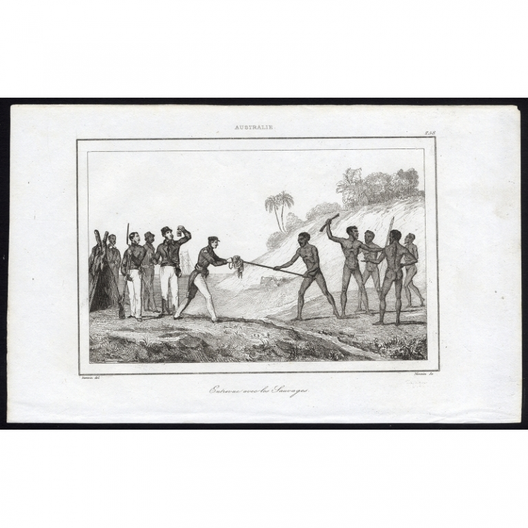 Pl.258 Entrevue avec les Sauvages Australie - Rienzi (1836)