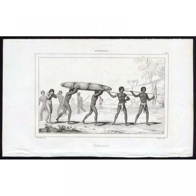 Pl.264 Enterrement Australie - Rienzi (1836)