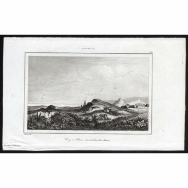 Pl. 273 Camp de l'Uranie dans la baie des chiens Australie - Rienzi (1836)