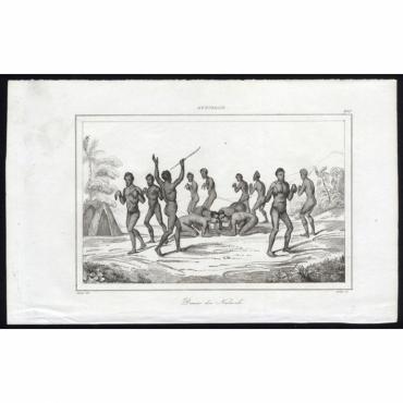 Pl.268 Danse des Naturels, Australie - Rienzi (1836)