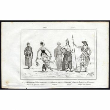Pl.24 Javanais de Classe commune, Homme de cour, Homme de Guerre (..) - Rienzi (1836)