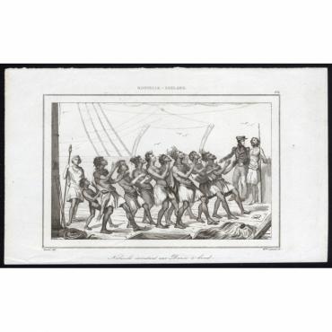 Naturels executant une Danse a bord - 184, Nouvelle-Zeeland - Rienzi (1836)