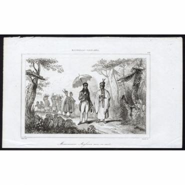 Missionnaire Anglican avec sa suite - 179, Nouvelle-Zeeland - Rienzi (1836)