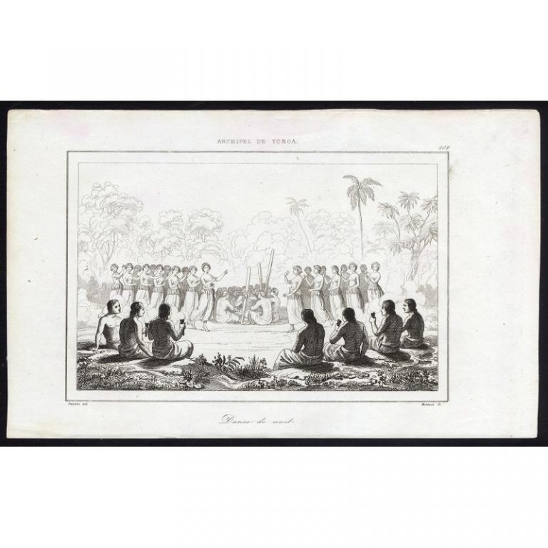 Danse de Nuit - 202, Archipel de Tonga - Rienzi (1836)