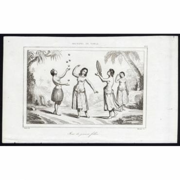 Jeux de jeunes filles - 203, Archipel de Tonga - Rienzi (1836)